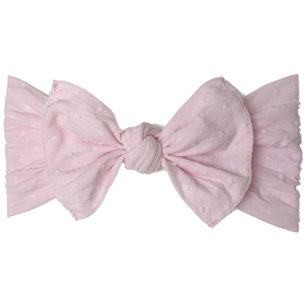 Baby Bling Bow Original Knot, Pink Dot
