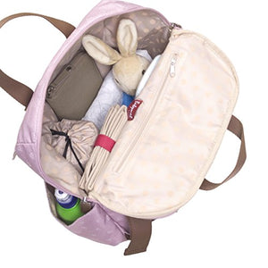 Babymel Dusty Pink Origami Heart Robyn Convertible Backpack Diaper Bag, One Size