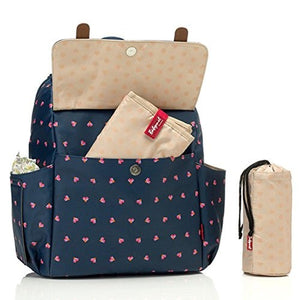 Babymel Origami Heart Navy Robyn Convertible Backpack Diaper Bag