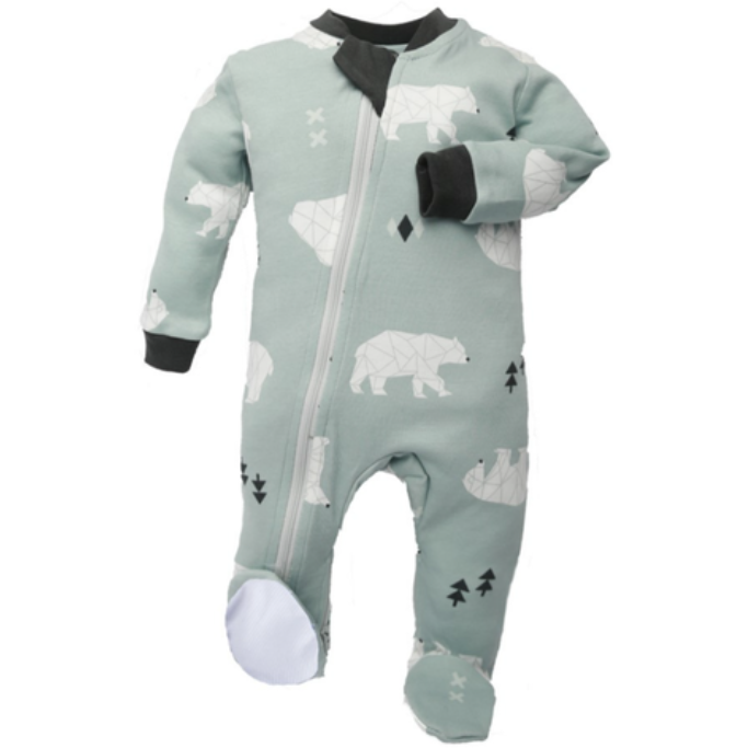 Be Beary Quiet Zippyjams 6-9 Months