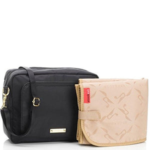 Storksak Black Mini Fix On-the-Go Clutch Diaper Bag