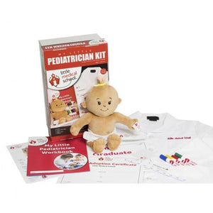 My Little Pediatrician Medicine Kit allows Children to use their Imagination while Promoting Social Development, Cooperation, Teamwork, and Creativity (Dark Skin Baby)