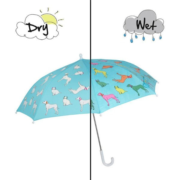 Holly & Beau Cats and Dogs Color Changing Umbrella