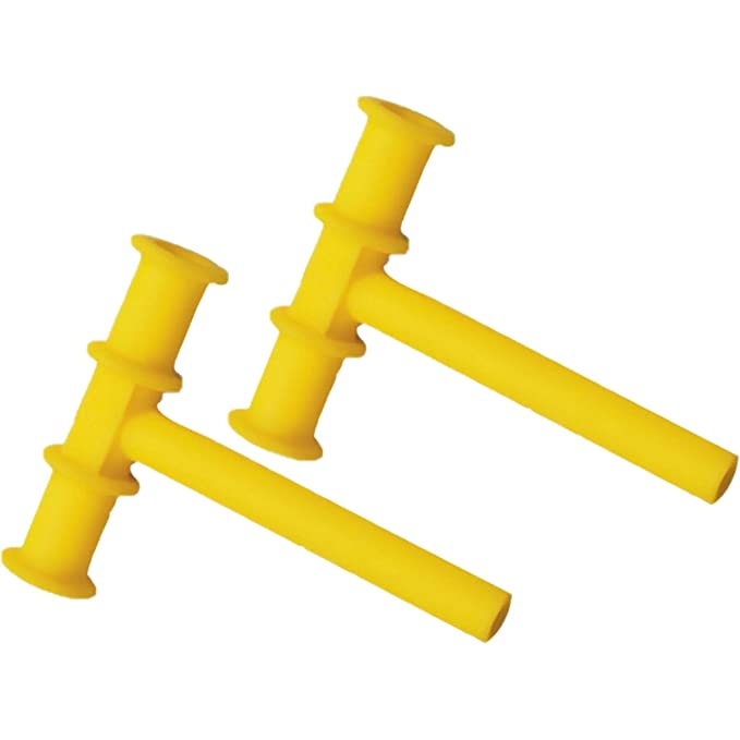 Chewy Tubes Yellow Sensory Teether - 2 Count
