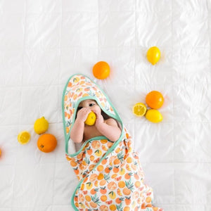 Copper Pearl Premium Knit Hooded Bath Towel, Citrus