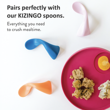 Load image into Gallery viewer, Kizingo Two Pack Raspberry & Lagoon Toddler Plates