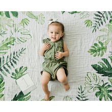 Load image into Gallery viewer, Little Unicorn  Photo Blanket, Tropical Leaf