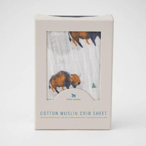 Little Unicorn Cotton Muslin Crib Sheet, Bison