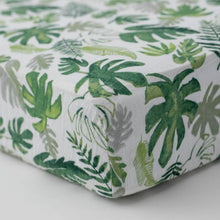 Load image into Gallery viewer, Little Unicorn Cotton Muslin Crib Sheet, Tropical Leaf