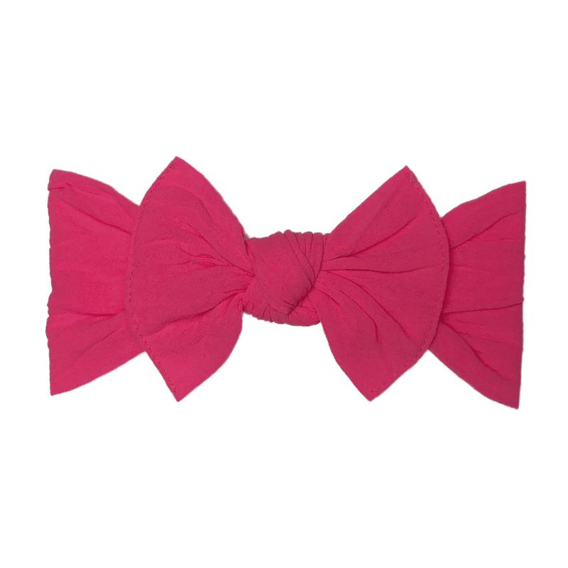 Baby Bling Bow Original Knot, Neon Pink