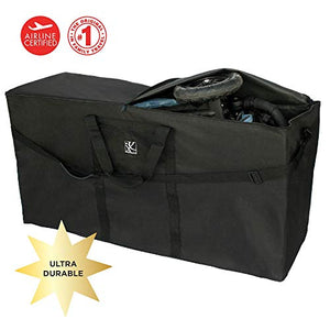 JL Childress Black Standard and Dual Stroller Travel Bag