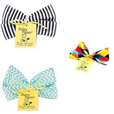 Baby Paper Crinkly Baby Toy SET of 3 - Stripes + Triangle + Zig Zag