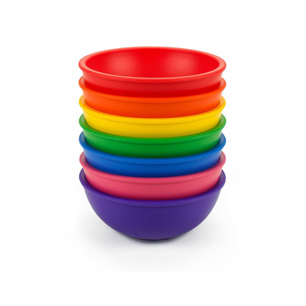 lollaland Mealtime Bowl, Pink - BPA-free and phthalate-free, Made in USA