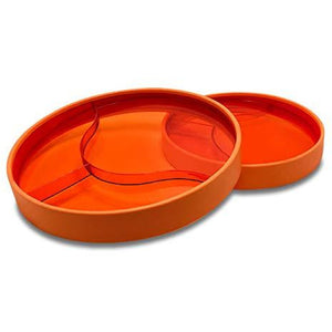 Stay-n-Eat - Small Plate-Transparent Orange