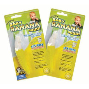 Original Baby Banana Brush for Toddlers- 2 Pack