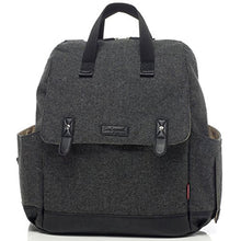 Load image into Gallery viewer, Babymel Tweed Grey Robyn Convertible Backpack