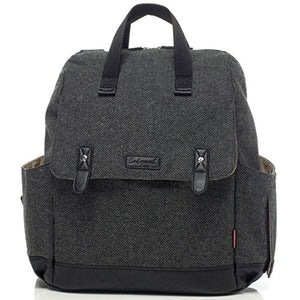Babymel Tweed Grey Robyn Convertible Backpack