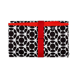 JL Childress Black / Red Floral Full Body Changing Pad