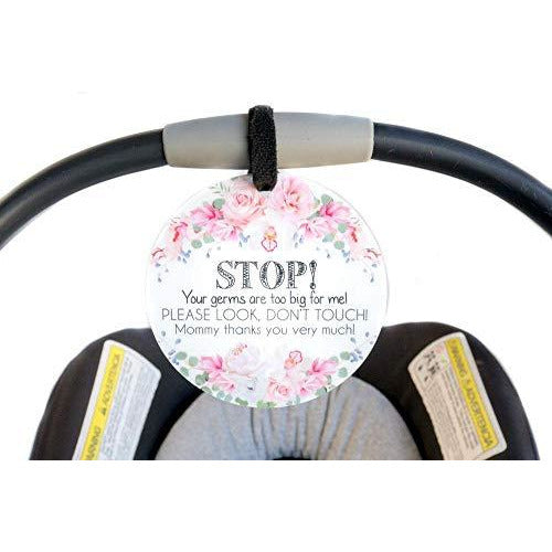 Flower Tag - STOP! Your germs are too big for me! PLEASE -SL