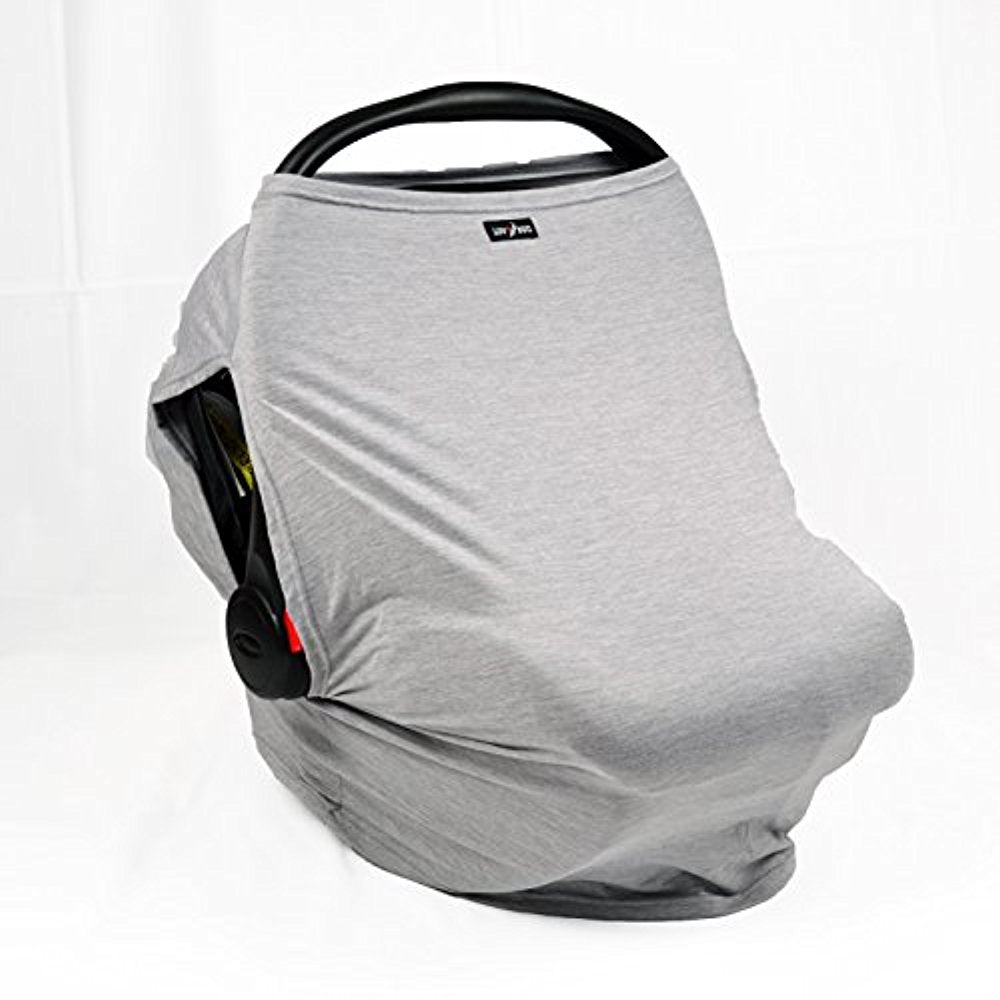 Luv Bug Company UPF 50+ Car Seat Cover with Side Vents (Gray Heather)