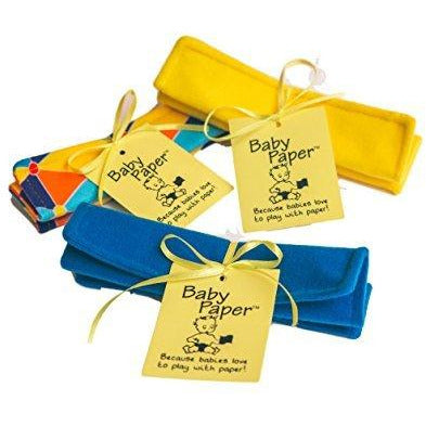 Baby Paper Crinkly Baby Toy Gift Set - Yellow + Triangle + Blue