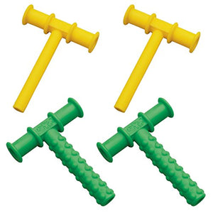 Chewy Tubes Yellow/Green Teether, 4 Pack