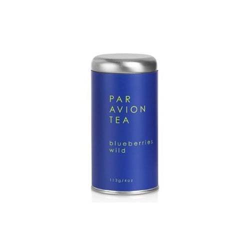 Par Avion Tea Blueberries Wild, Organic Blueberry Green Tea, Small Batch Loose Leaf Tea in Artisan Tin, 4 oz.