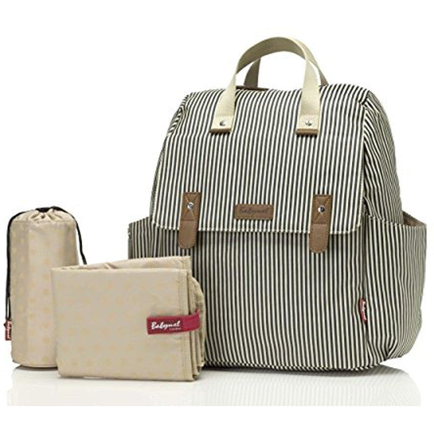Babymel Robyn Convertible Backpack, Stripe Navy