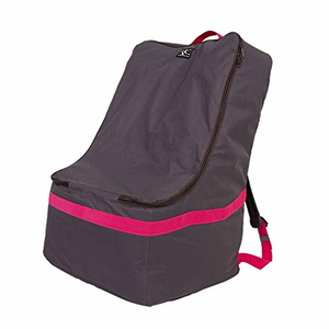 JL Childress Grey with Fuchsia Trim Ultimate Car Seat Travel Bag