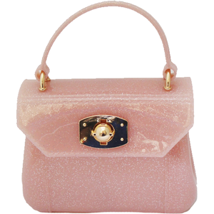 Pink Metallic Jelly Purse