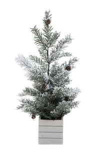 Transpac - Large Snow Tree With Container