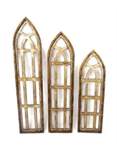 White/Brown Church Windows
