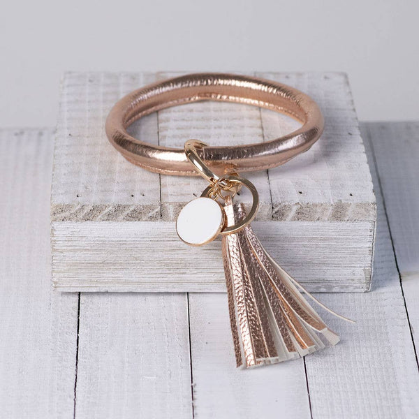 Tassel Bracelet Key Chain / Key Ring