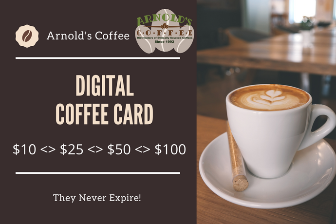 Arnold's Coffee Card