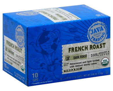 Organic French Roast Single Serve pack