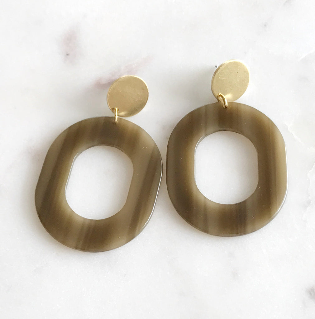 coco earrings - wood grain
