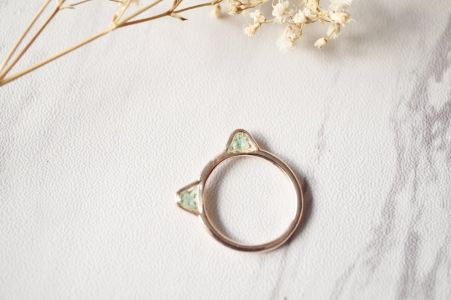 Cat Ring in Rose Gold and Mint