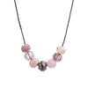 Dotted Hollow Glass Beads Necklace