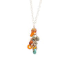 Glass Beads Cluster Pendant on Gold-filled Necklace