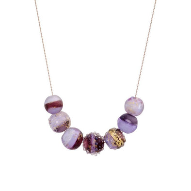 Unique Glass Beads Statement Necklace