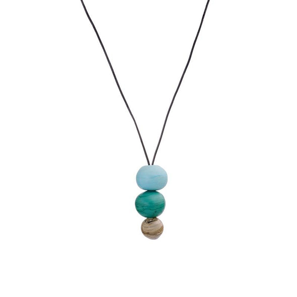 Zen Trio of Glass Beads Necklace
