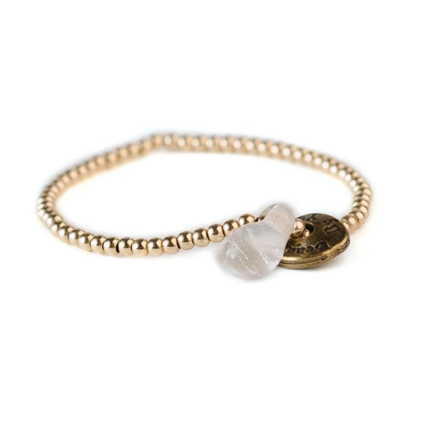 Gold-Filled Friendship Bracelet with a Glass Bead