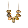 Oversized Glass Beads Statement Necklace