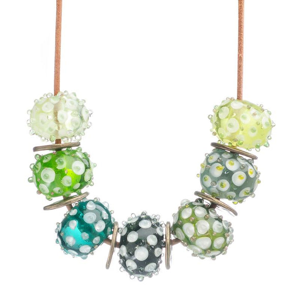 Dotted Glass Beads Necklace