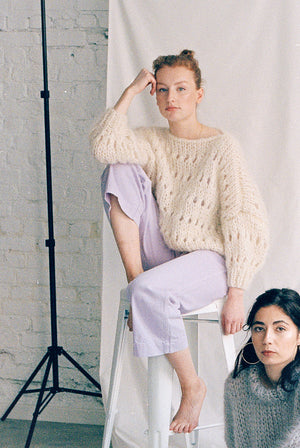 Natural White Sweater (with pattern)
