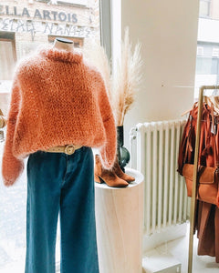 Rusty Orange Sweater (with collar)