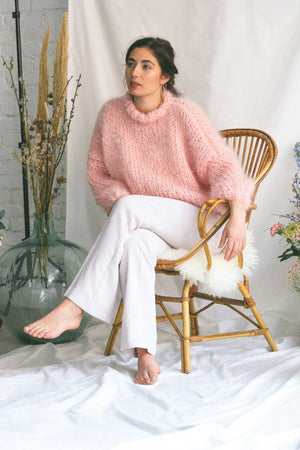 Pastel Pink Sweater (with collar)