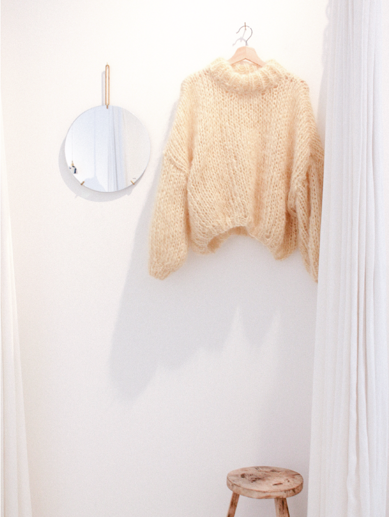Pastel Yellow Sweater (with collar)