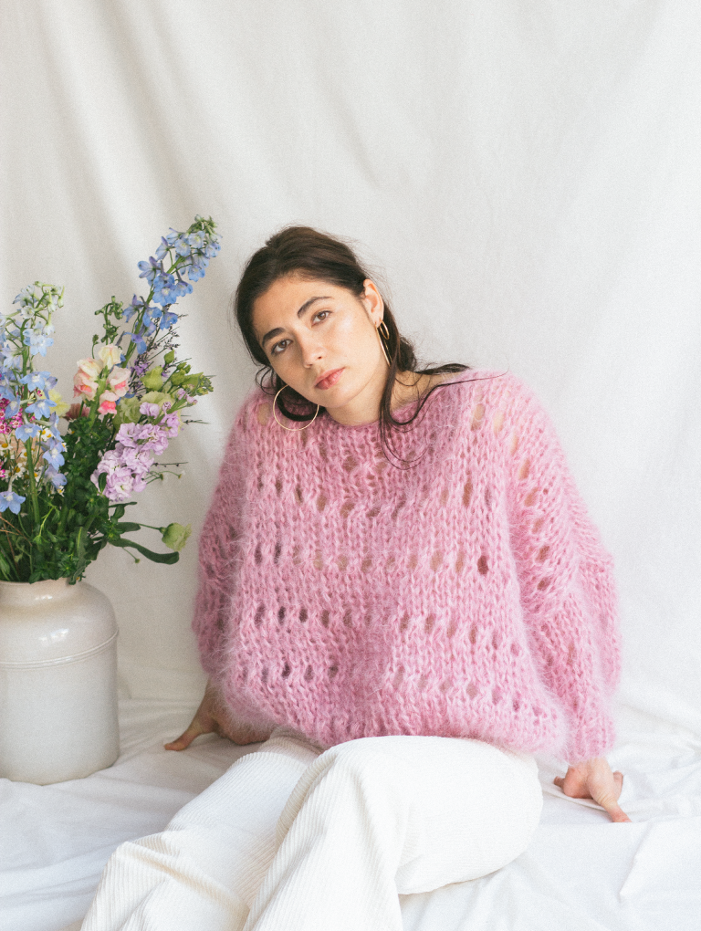 Old Rose Sweater (with pattern)