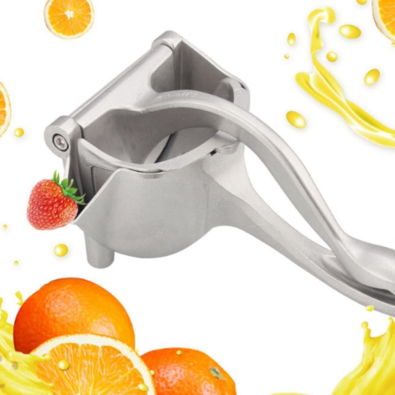 Silver Metal Manual Juicer Fruit Squeezer Juice Squeezer Lemon Orange Juicer Press Household Multifunctional Juicer - John's Galley